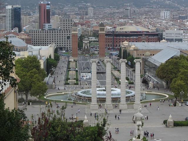 Font magica, arena shoppingcenter, plaza espanya